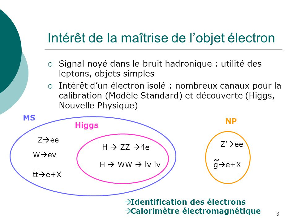 Intérêt de la maîtrise de l'objet électron