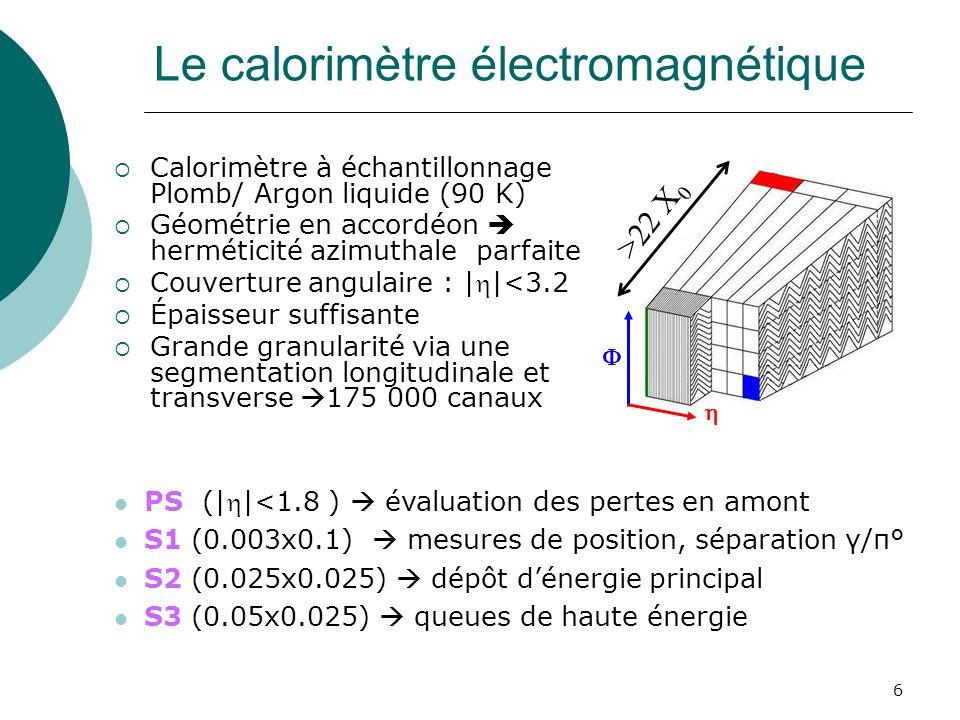 Le calorimètre électromagnétique