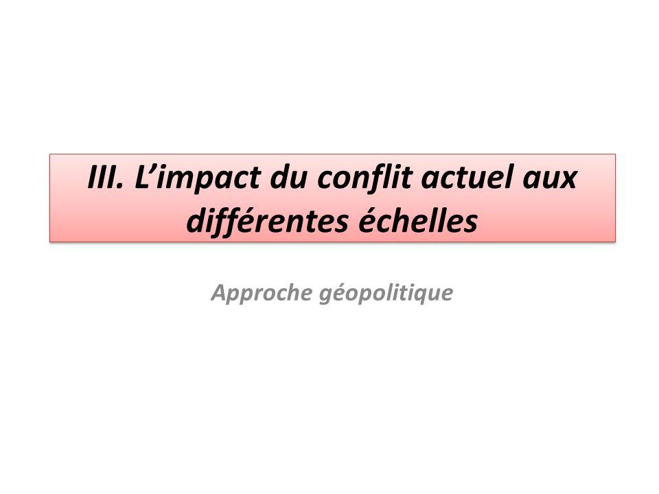 III. L'impact du conflit actuel aux différentes échelles