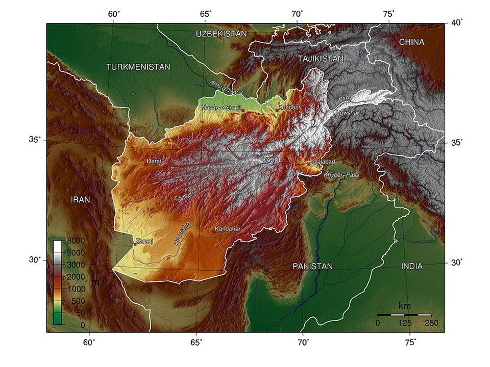 Afghanistan = massif montagneux, pays de montagne
