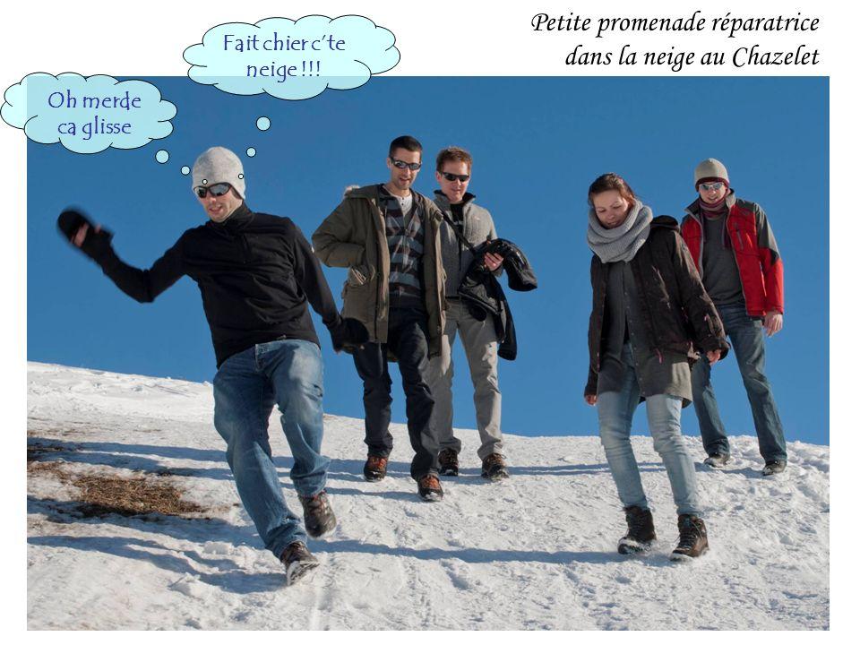Petite promenade réparatrice dans la neige au Chazelet