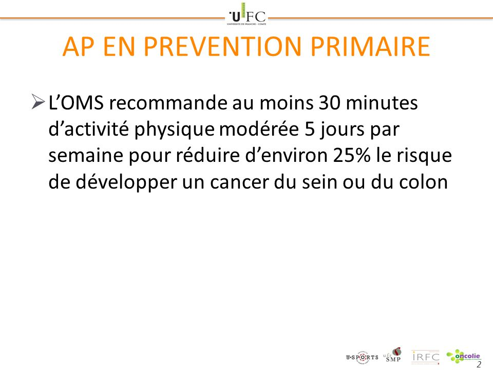 AP EN PREVENTION PRIMAIRE