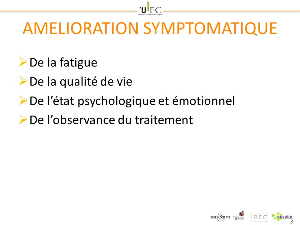 AMELIORATION SYMPTOMATIQUE