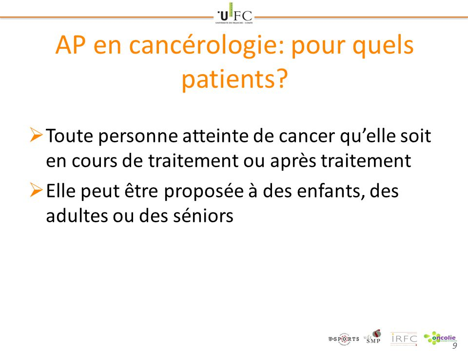 AP en cancérologie: pour quels patients