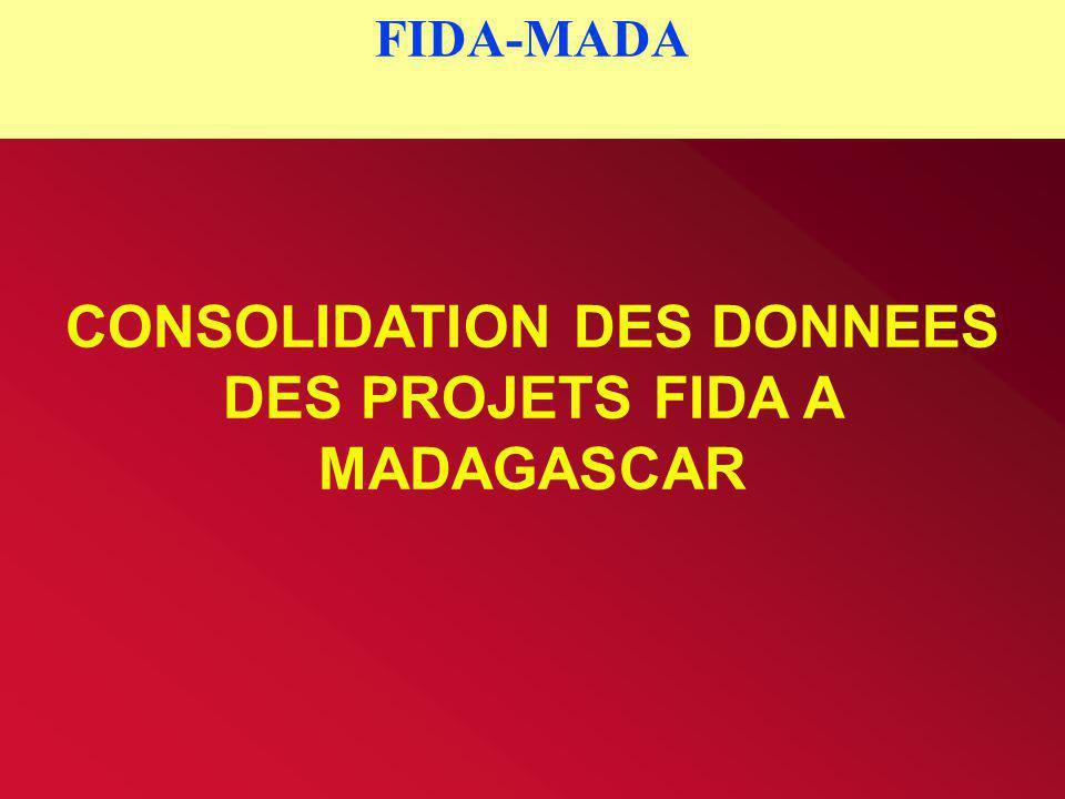 CONSOLIDATION DES DONNEES DES PROJETS FIDA A MADAGASCAR