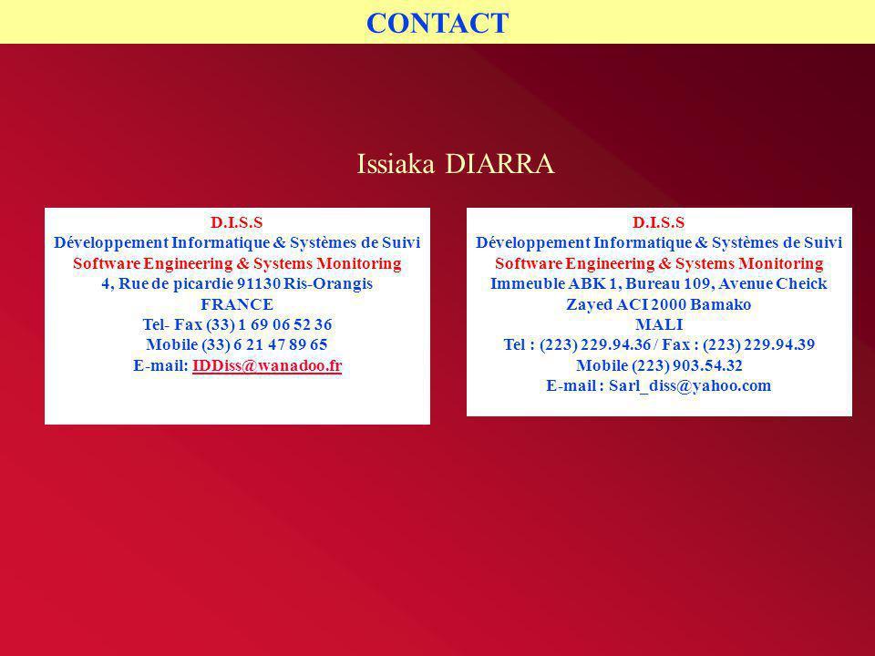 CONTACT Issiaka DIARRA D.I.S.S