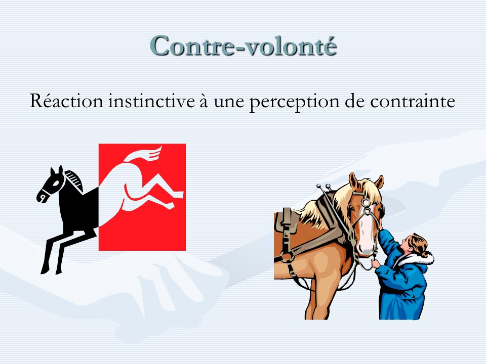 Contre-volonté Réaction instinctive à une perception de contrainte