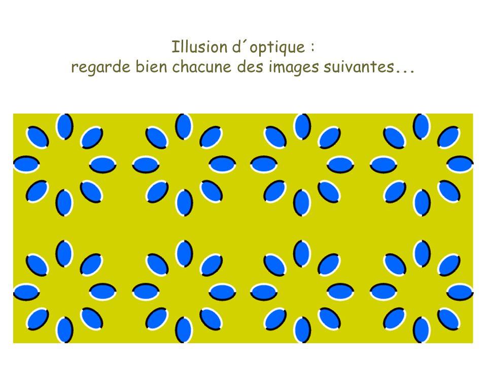 Illusion d´optique : regarde bien chacune des images suivantes...