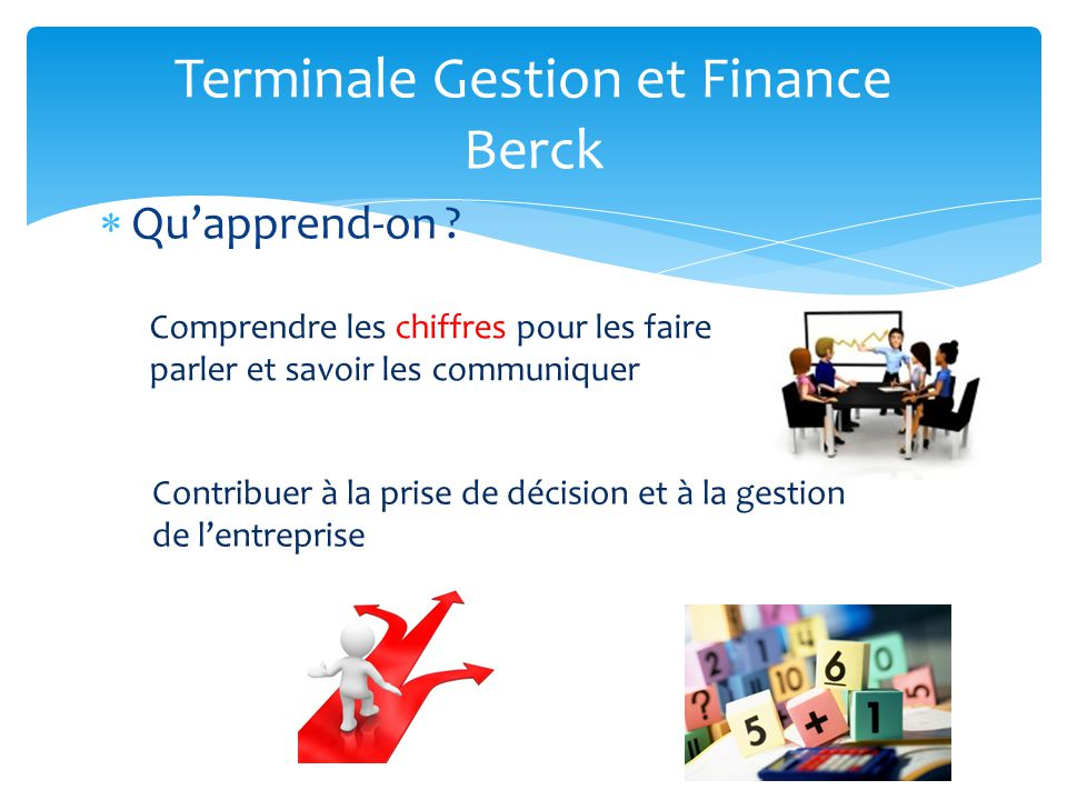 Terminale Gestion et Finance Berck