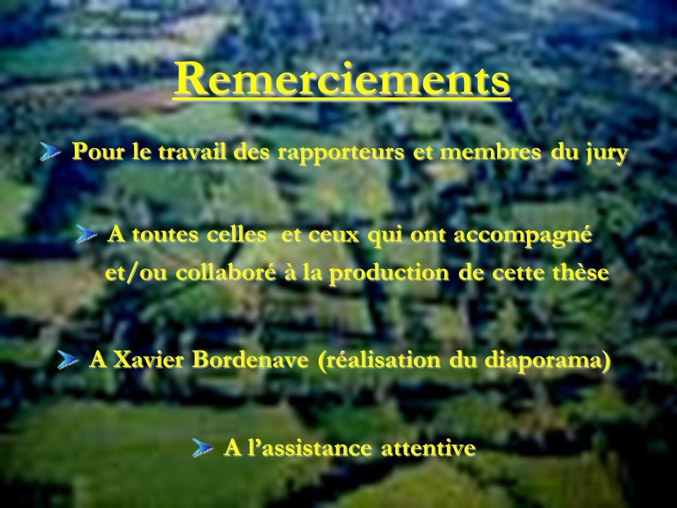 Remerciements Pour le travail des rapporteurs et membres du jury