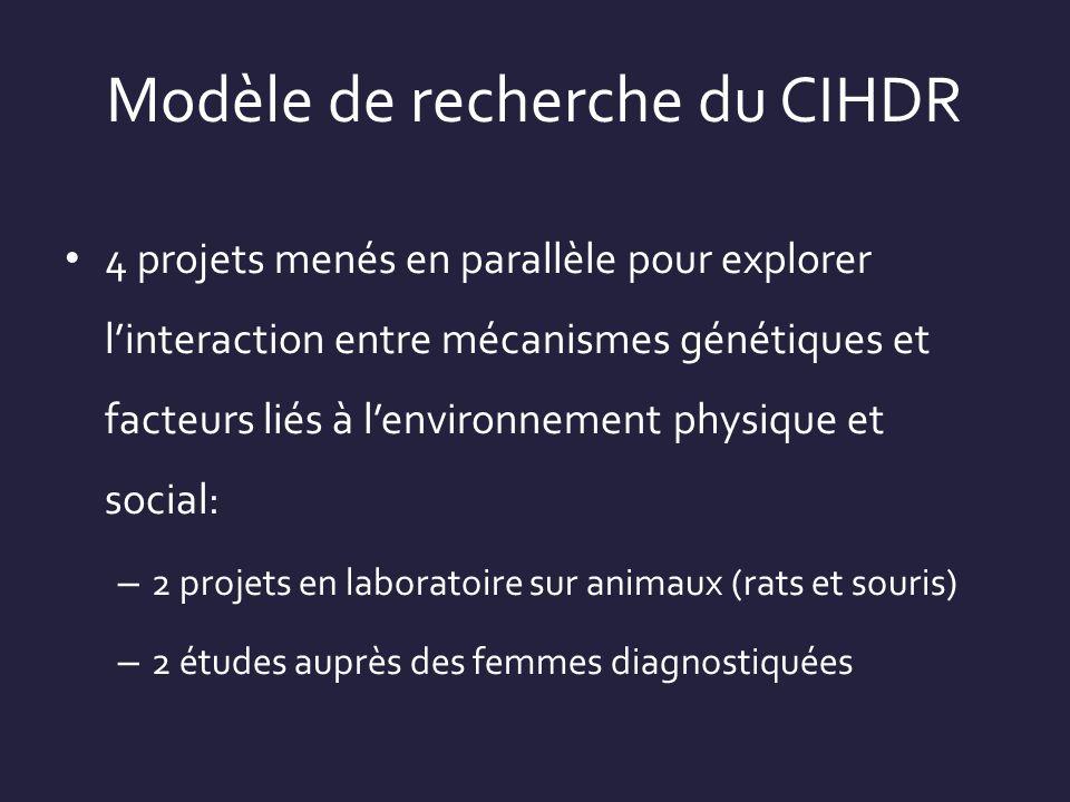 Modèle de recherche du CIHDR