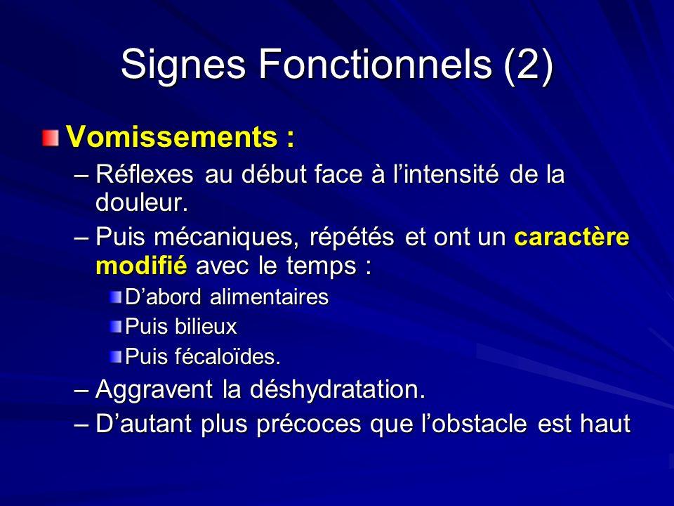 Signes Fonctionnels (2)