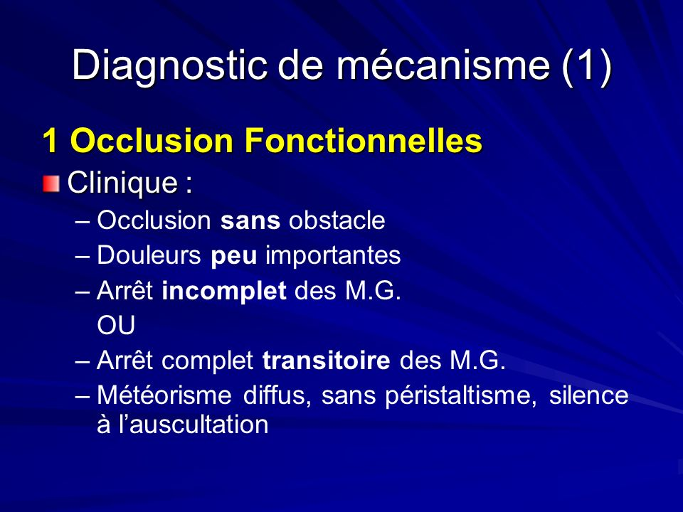 Diagnostic de mécanisme (1)