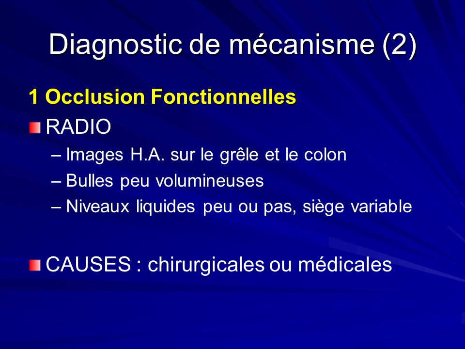 Diagnostic de mécanisme (2)