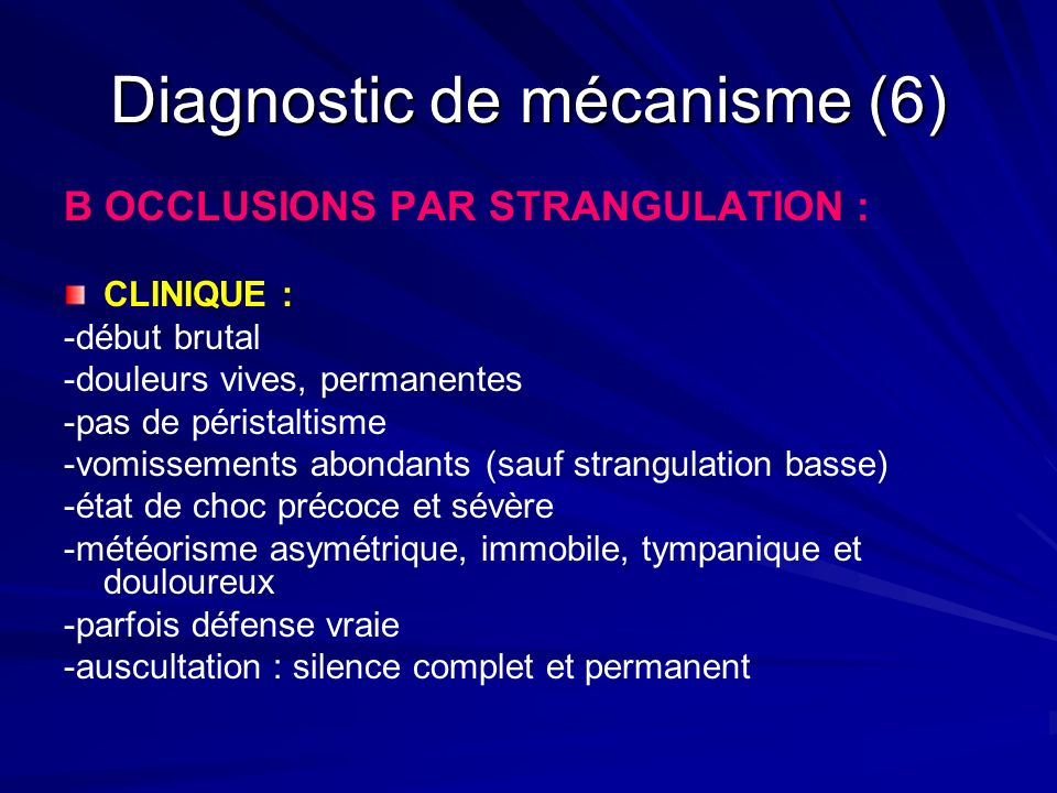 Diagnostic de mécanisme (6)