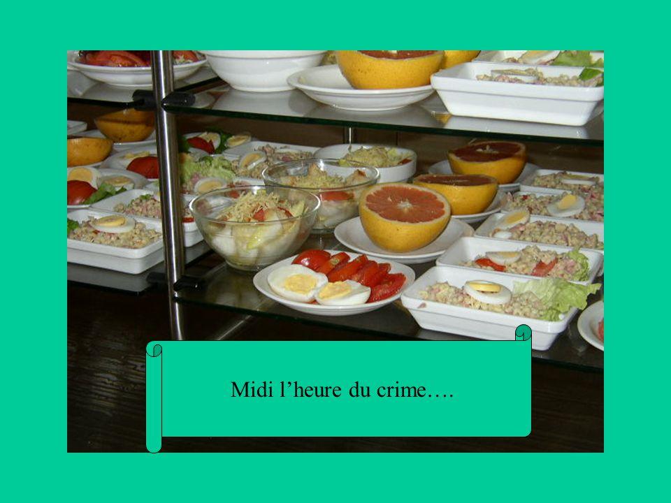 Midi l'heure du crime….