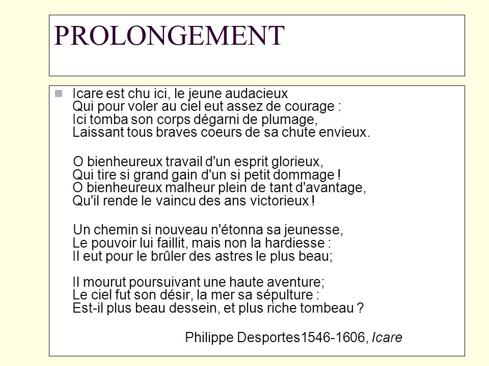 PROLONGEMENT
