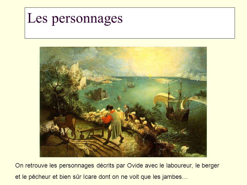 Les personnages On retrouve les personnages décrits par Ovide avec le laboureur, le berger.