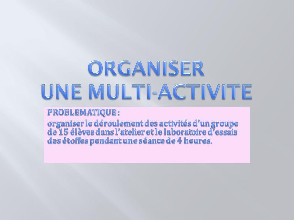 ORGANISER UNE MULTI-ACTIVITE