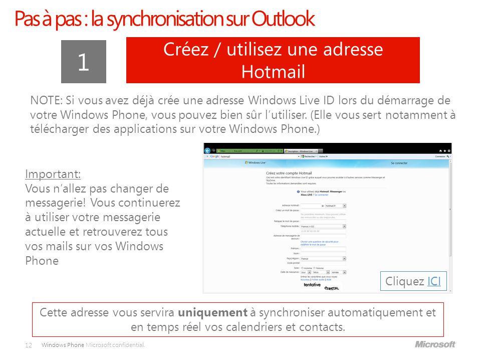 1 Pas à pas : la synchronisation sur Outlook