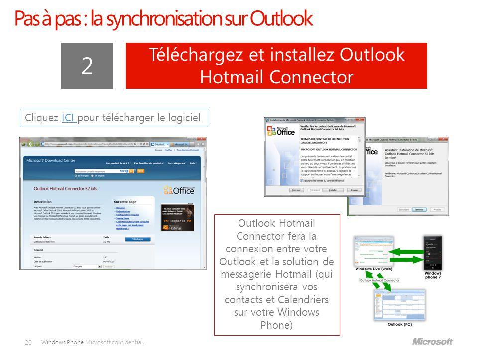 2 Pas à pas : la synchronisation sur Outlook