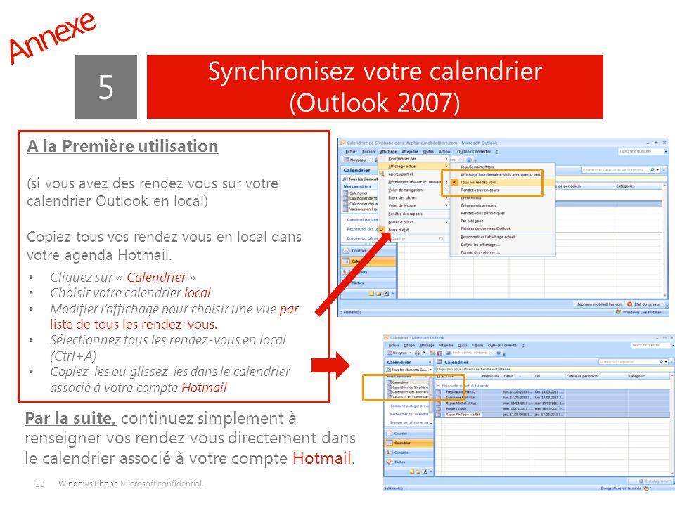 Synchronisez votre calendrier (Outlook 2007)