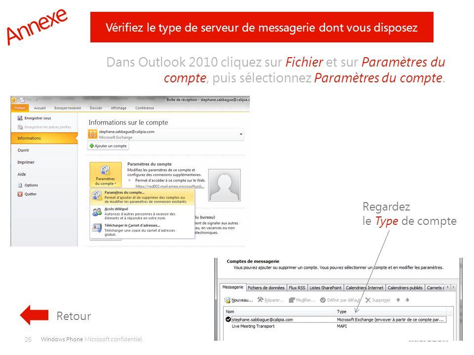 Vérifiez le type de serveur de messagerie dont vous disposez