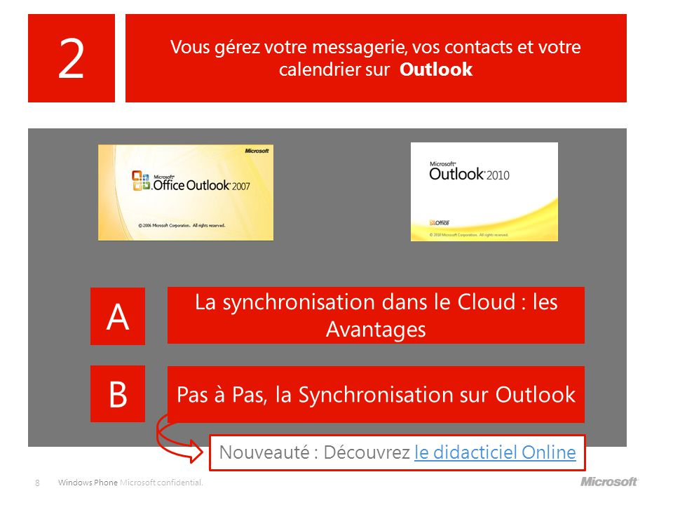 2 A B La synchronisation dans le Cloud : les Avantages