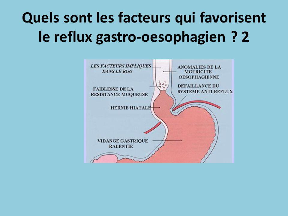 Quels sont les facteurs qui favorisent le reflux gastro-oesophagien 2