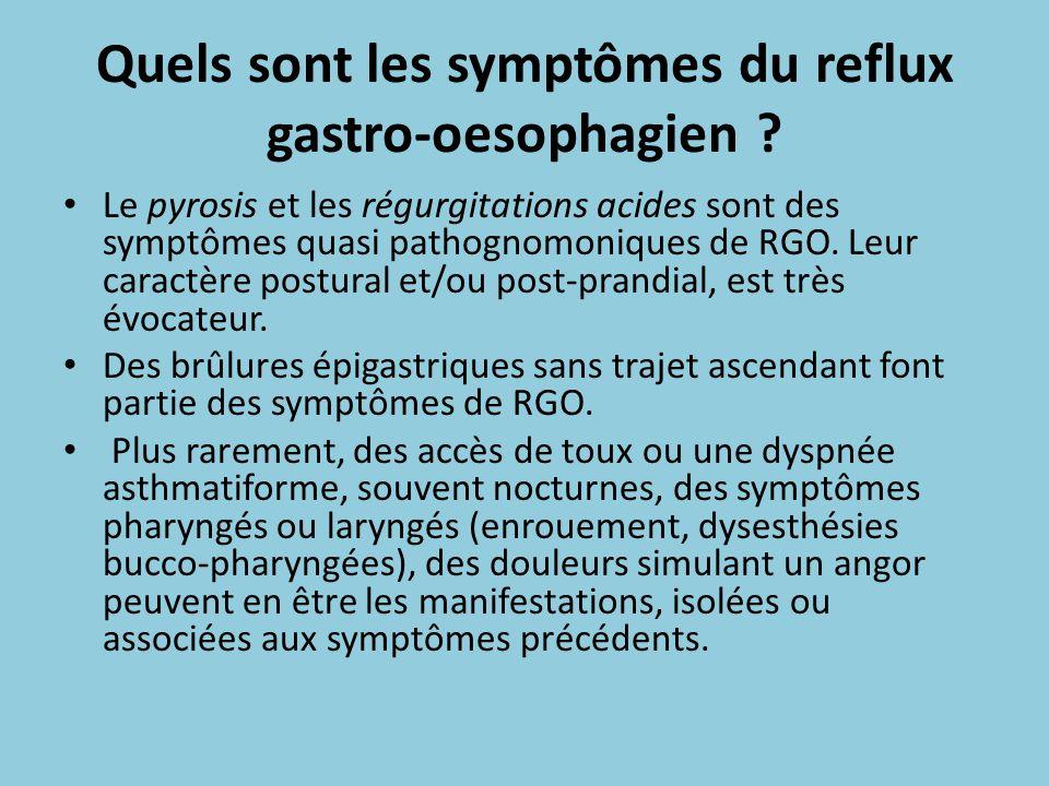 Quels sont les symptômes du reflux gastro-oesophagien