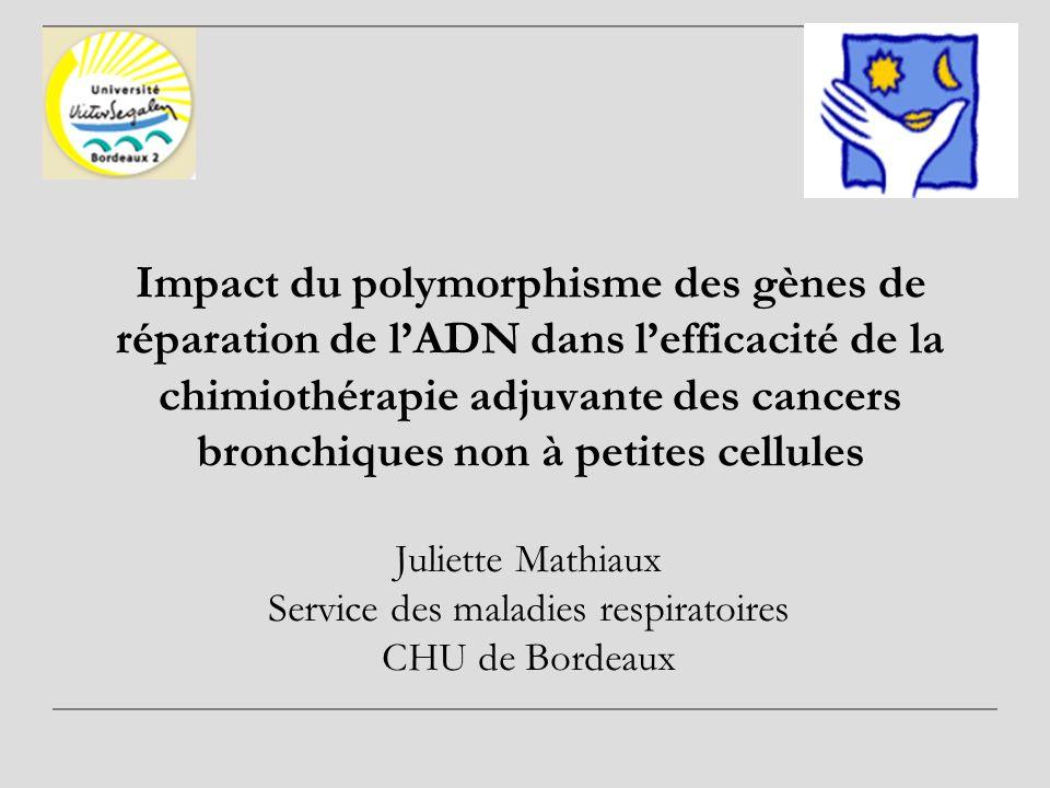 Juliette Mathiaux Service des maladies respiratoires CHU de Bordeaux