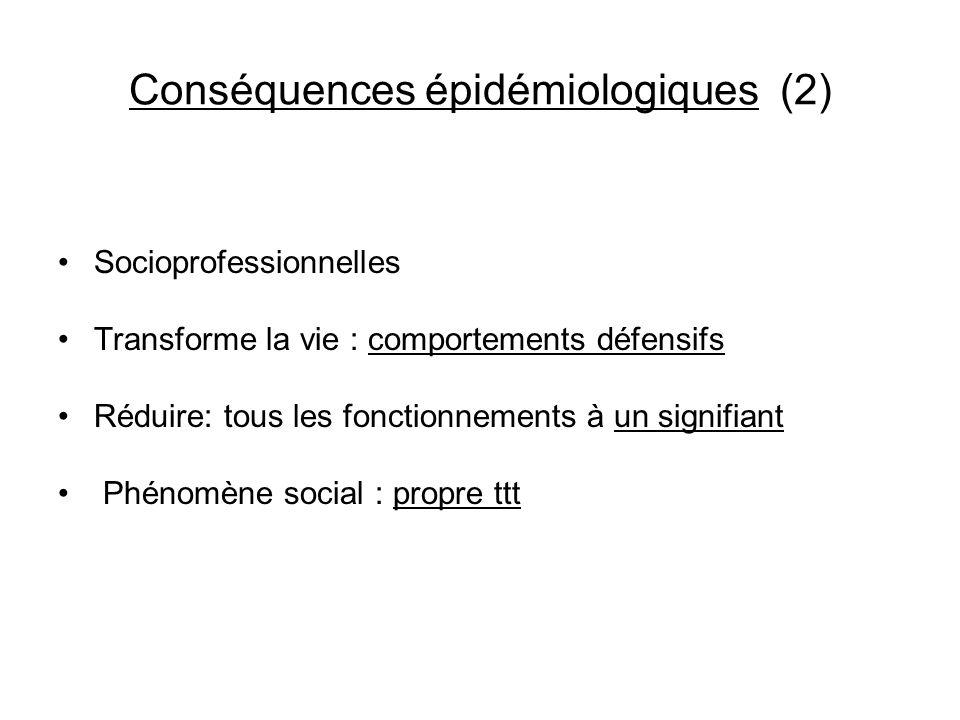 Conséquences épidémiologiques (2)