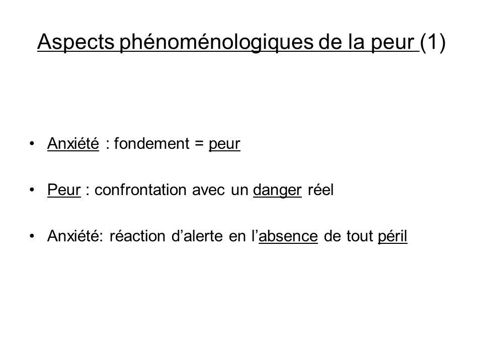 Aspects phénoménologiques de la peur (1)
