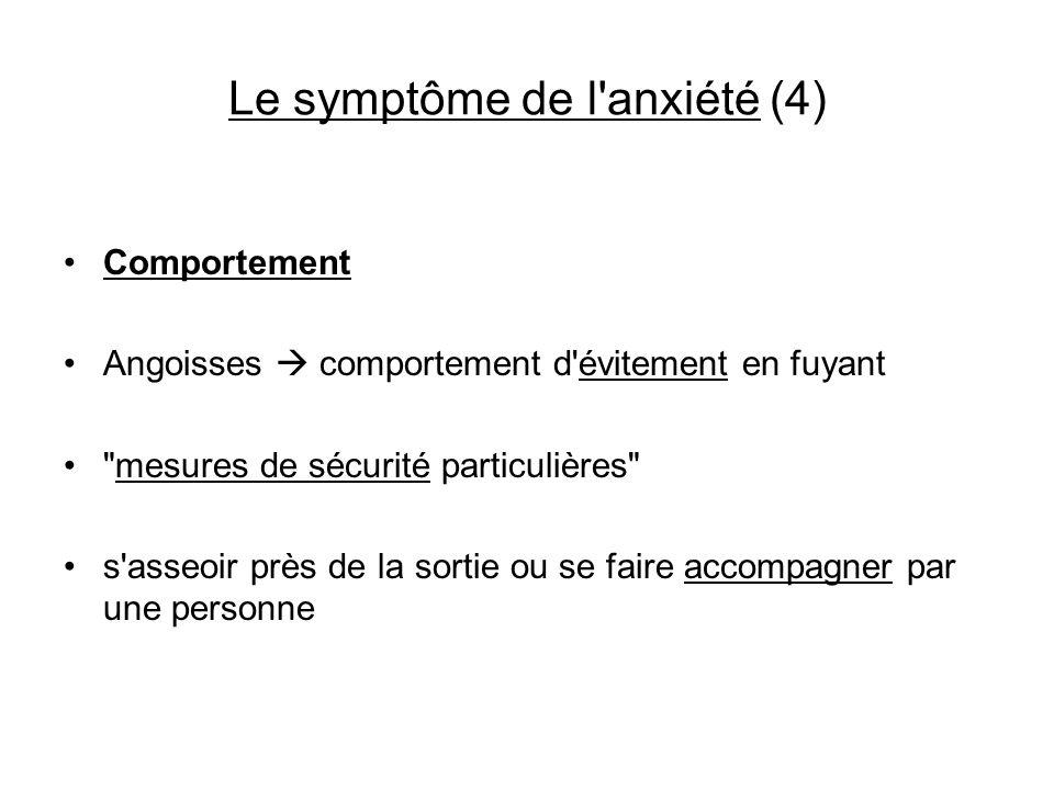 Le symptôme de l anxiété (4)