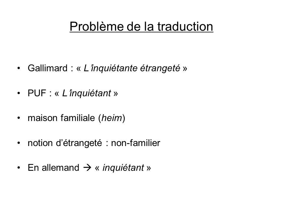 Problème de la traduction