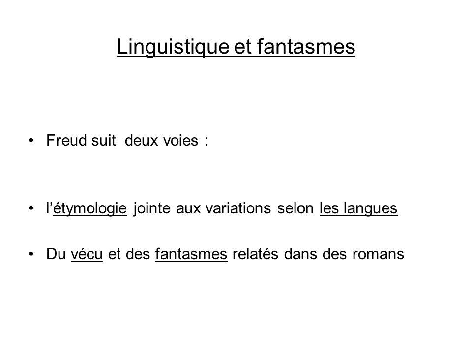 Linguistique et fantasmes