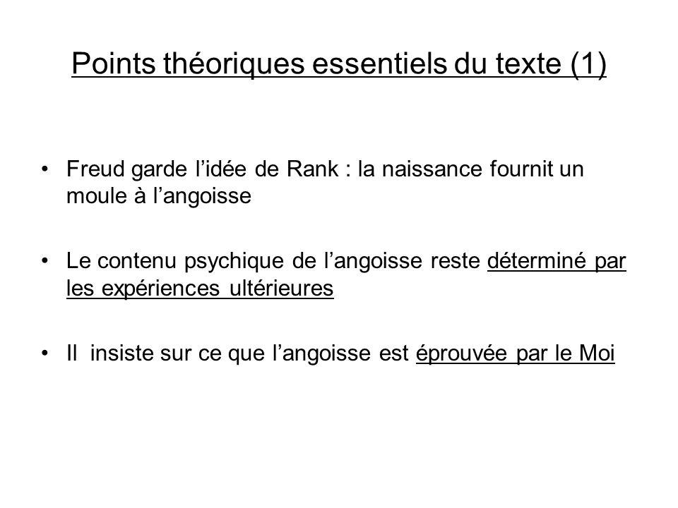 Points théoriques essentiels du texte (1)
