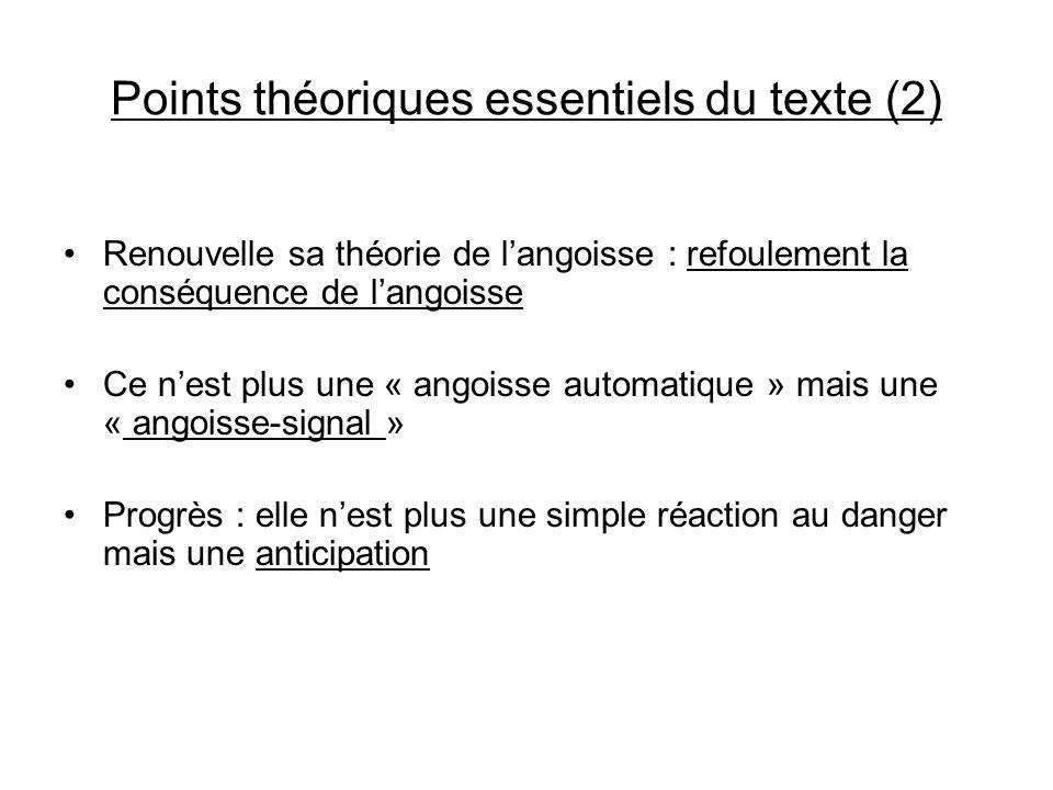 Points théoriques essentiels du texte (2)