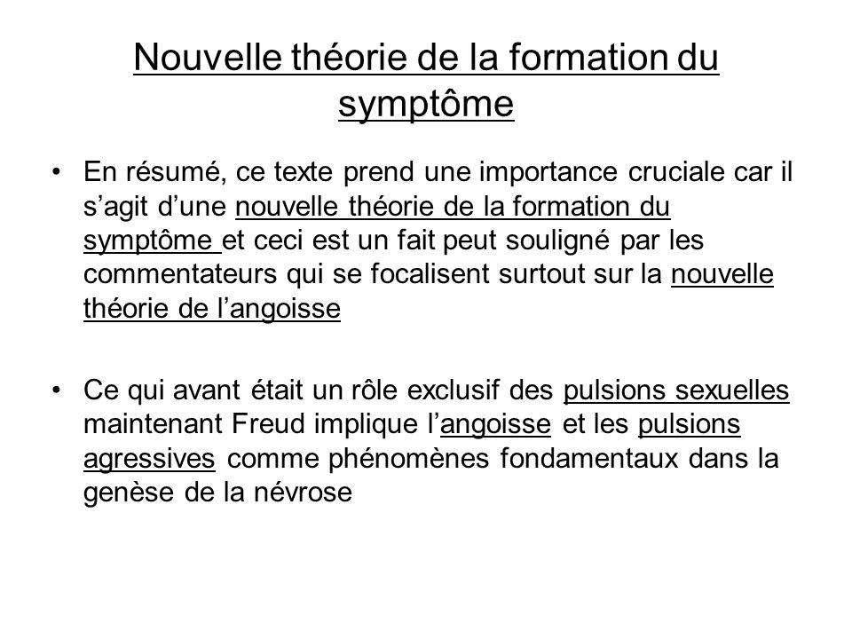 Nouvelle théorie de la formation du symptôme