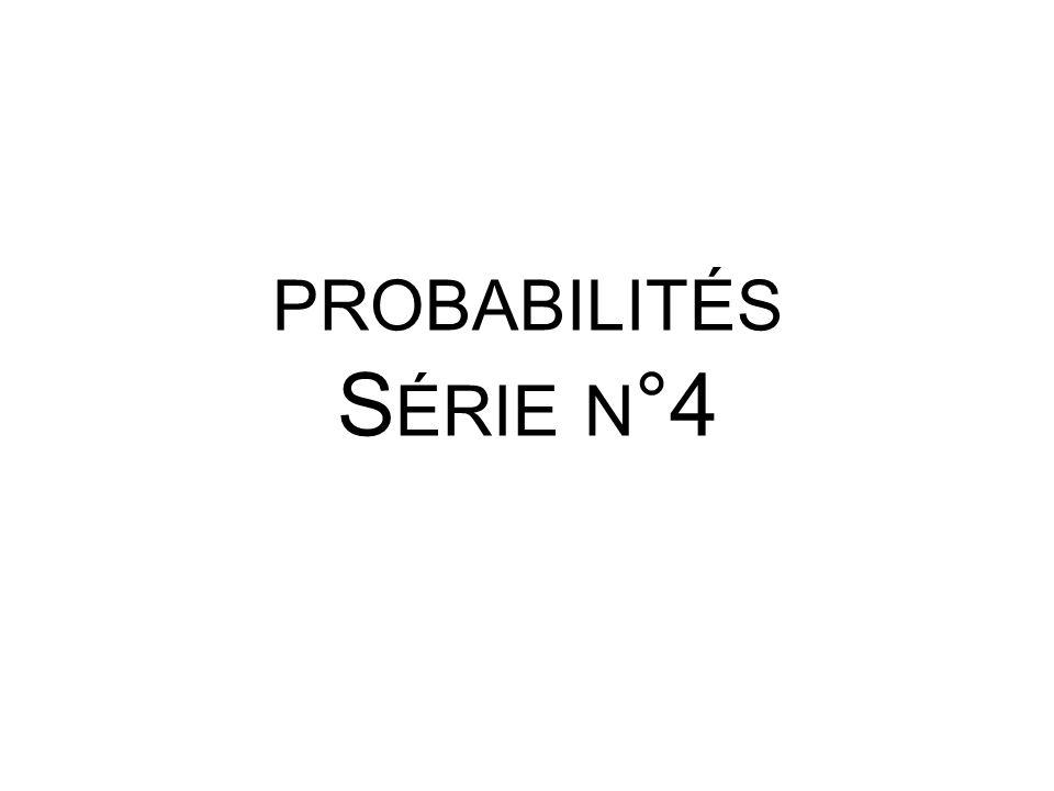 Déterminer la probabilité pour que chacun des événements suivants soit réalisé.