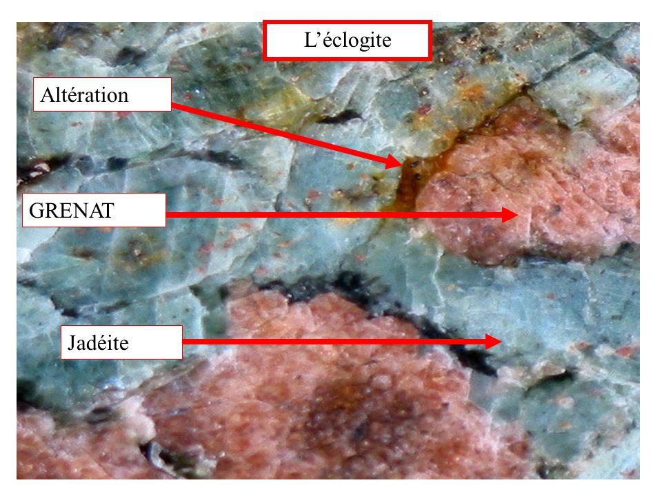 L'éclogite Altération GRENAT Jadéite