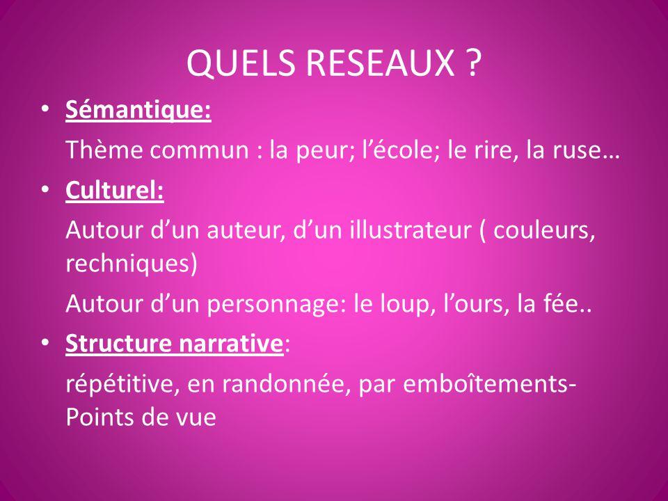QUELS RESEAUX Sémantique: