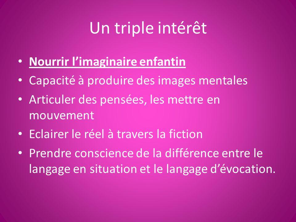 Un triple intérêt Nourrir l'imaginaire enfantin