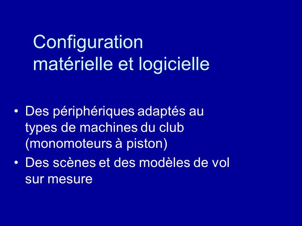 Configuration matérielle et logicielle