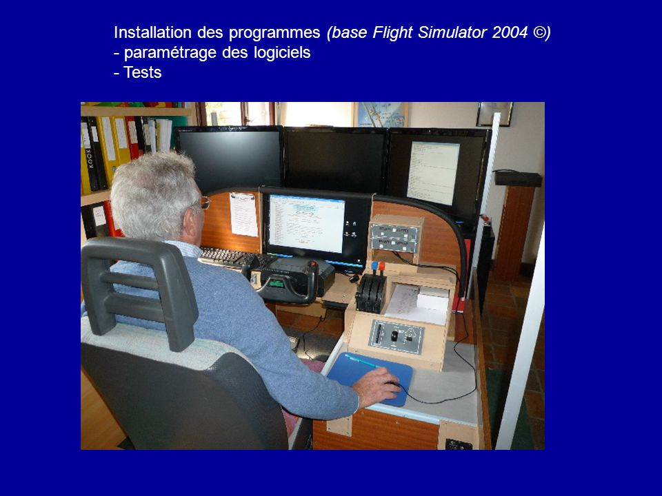 Installation des programmes (base Flight Simulator 2004 ©)