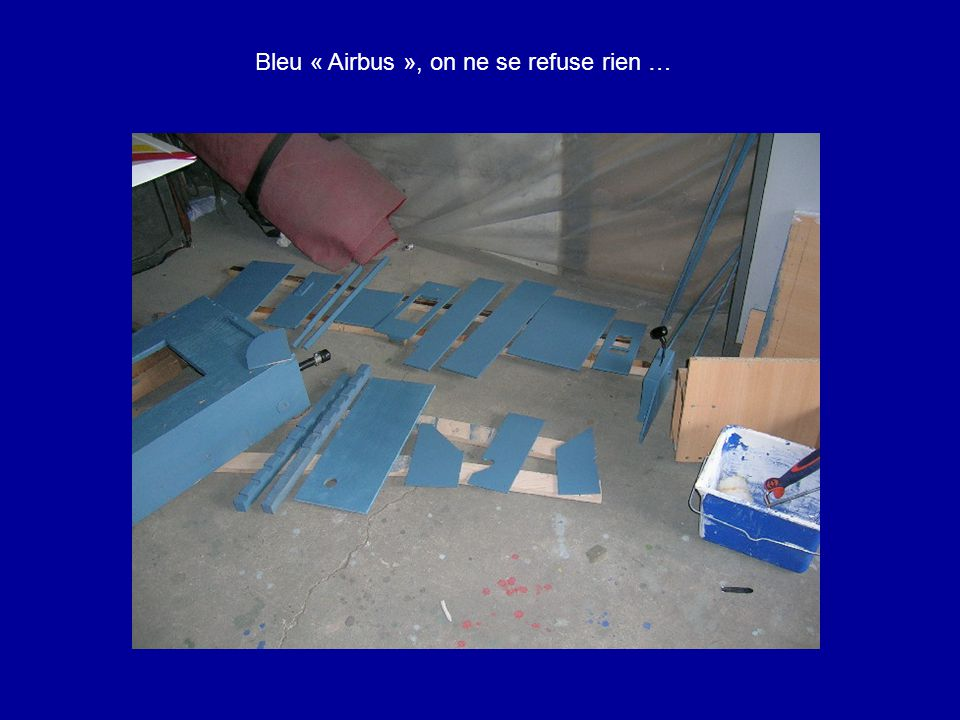 Bleu « Airbus », on ne se refuse rien …
