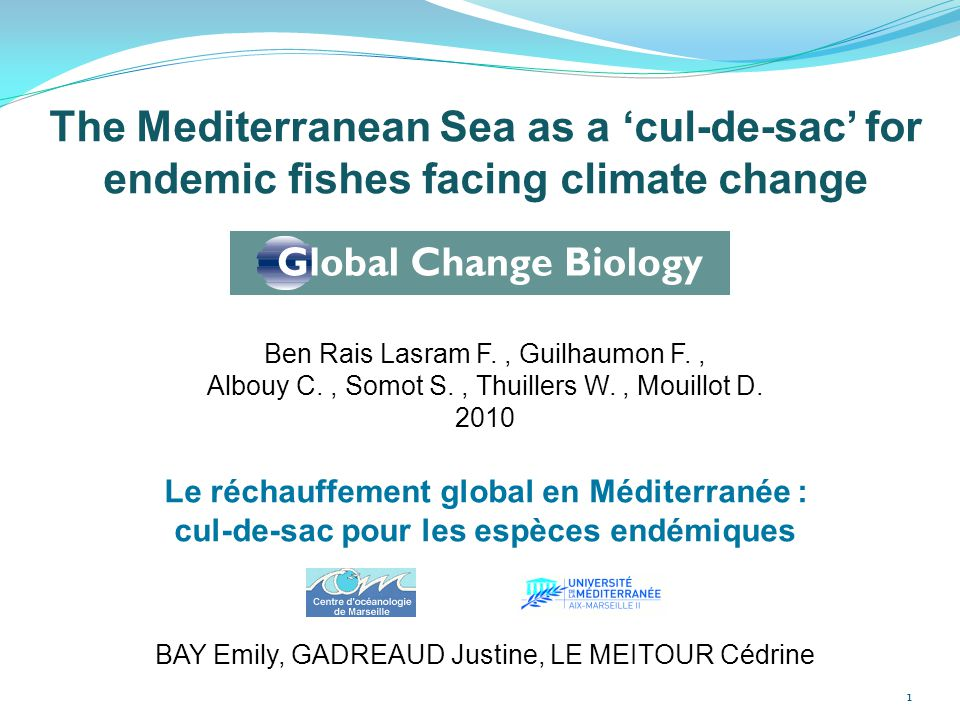 The Mediterranean Sea as a 'cul-de-sac' for endemic fishes facing climate change