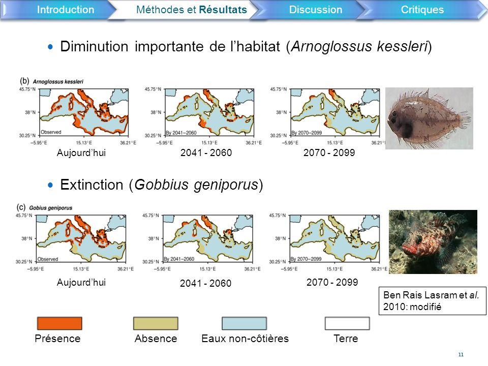 Diminution importante de l'habitat (Arnoglossus kessleri)