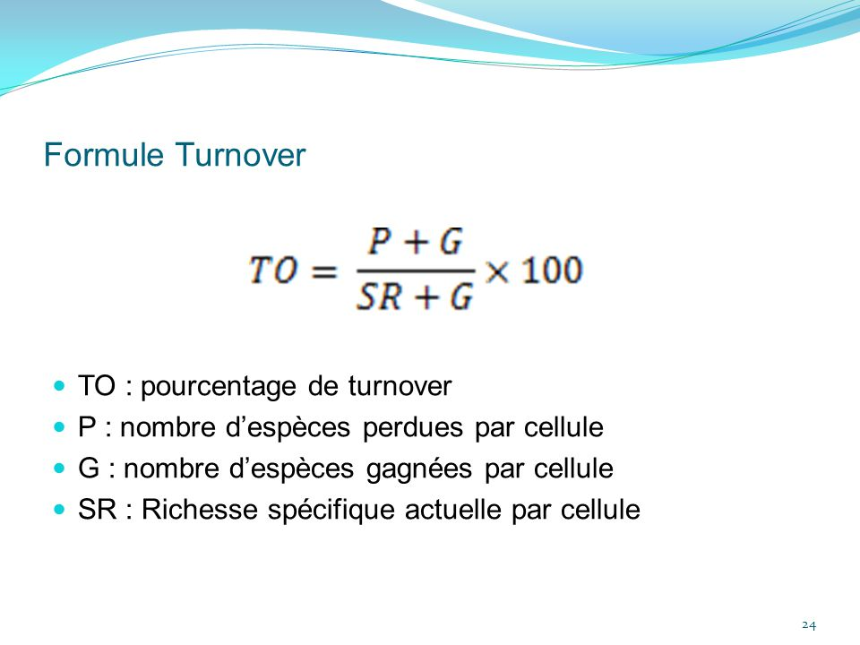 Formule Turnover TO : pourcentage de turnover