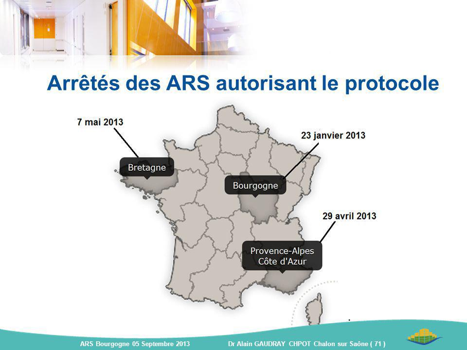 Arrêtés des ARS autorisant le protocole